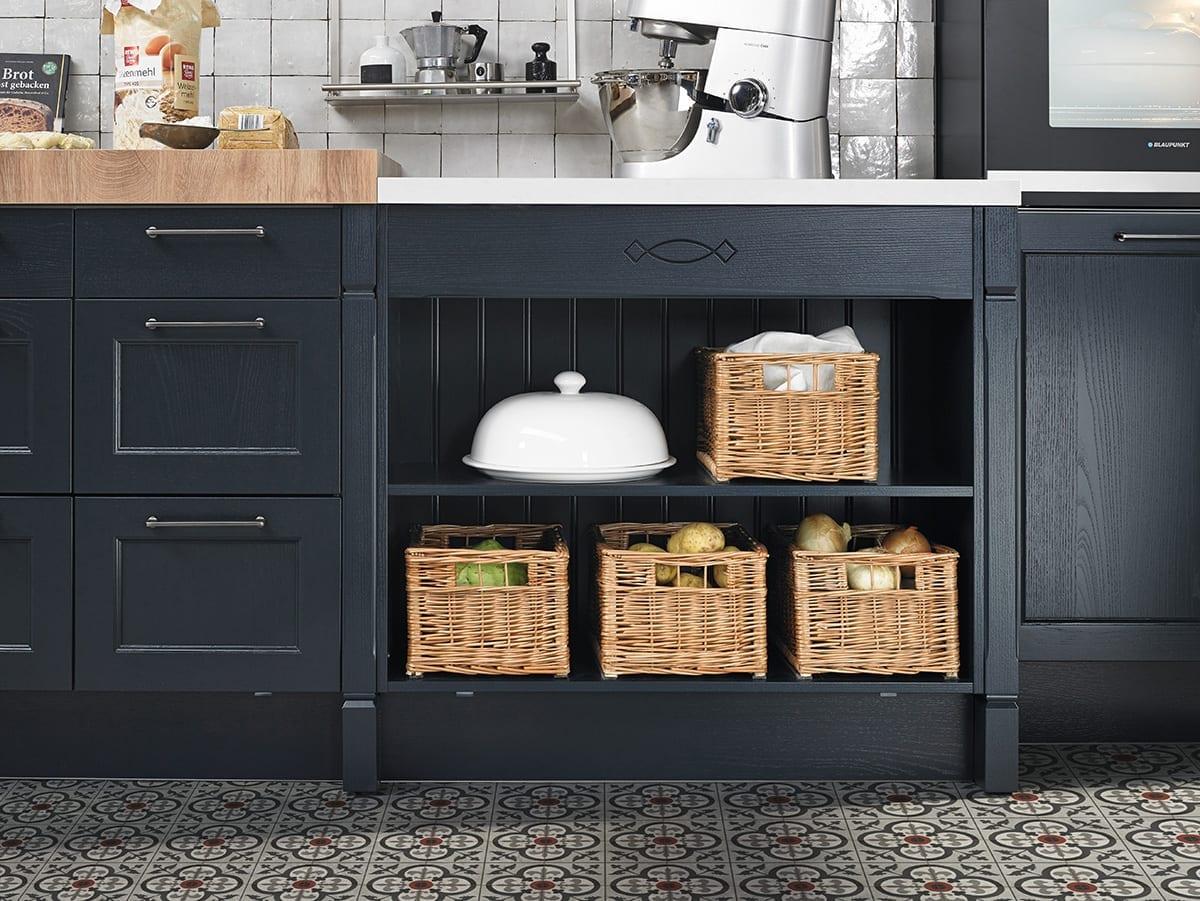 Blue Velvet Traditional Kitchen | Alm Studios