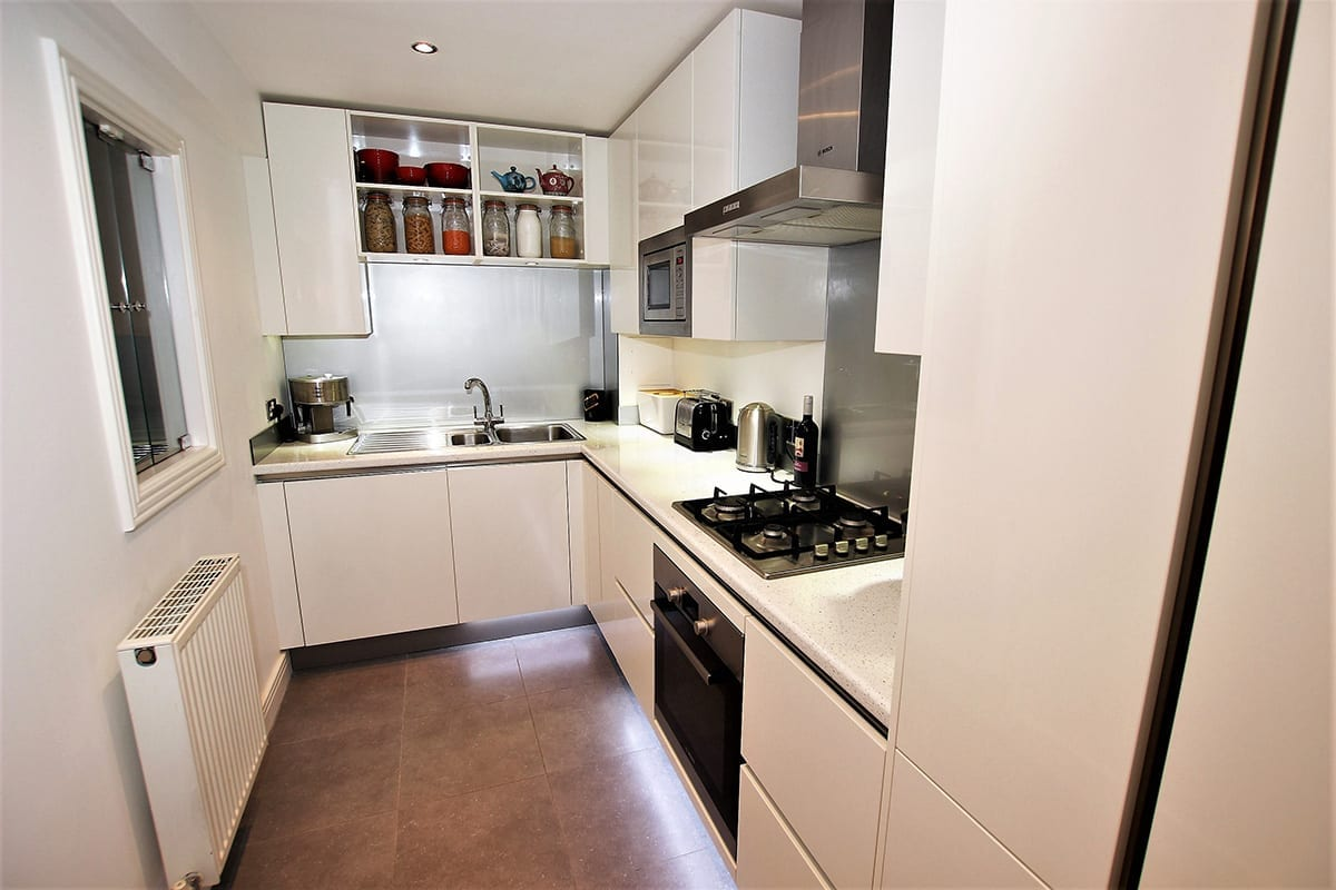 2. Small white kitchen layout Copy - Swans Of Gravesend