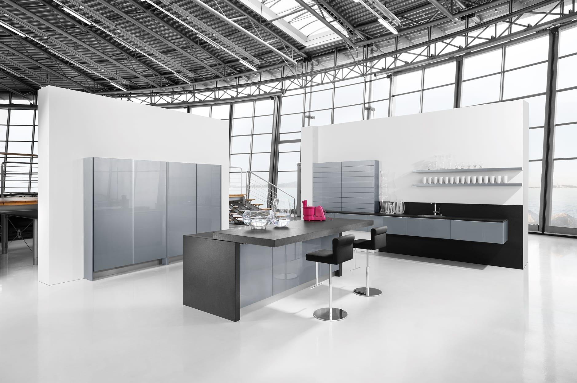 Glass Silver Grey Metallic - Net Kitchens Direct, Walthamstow