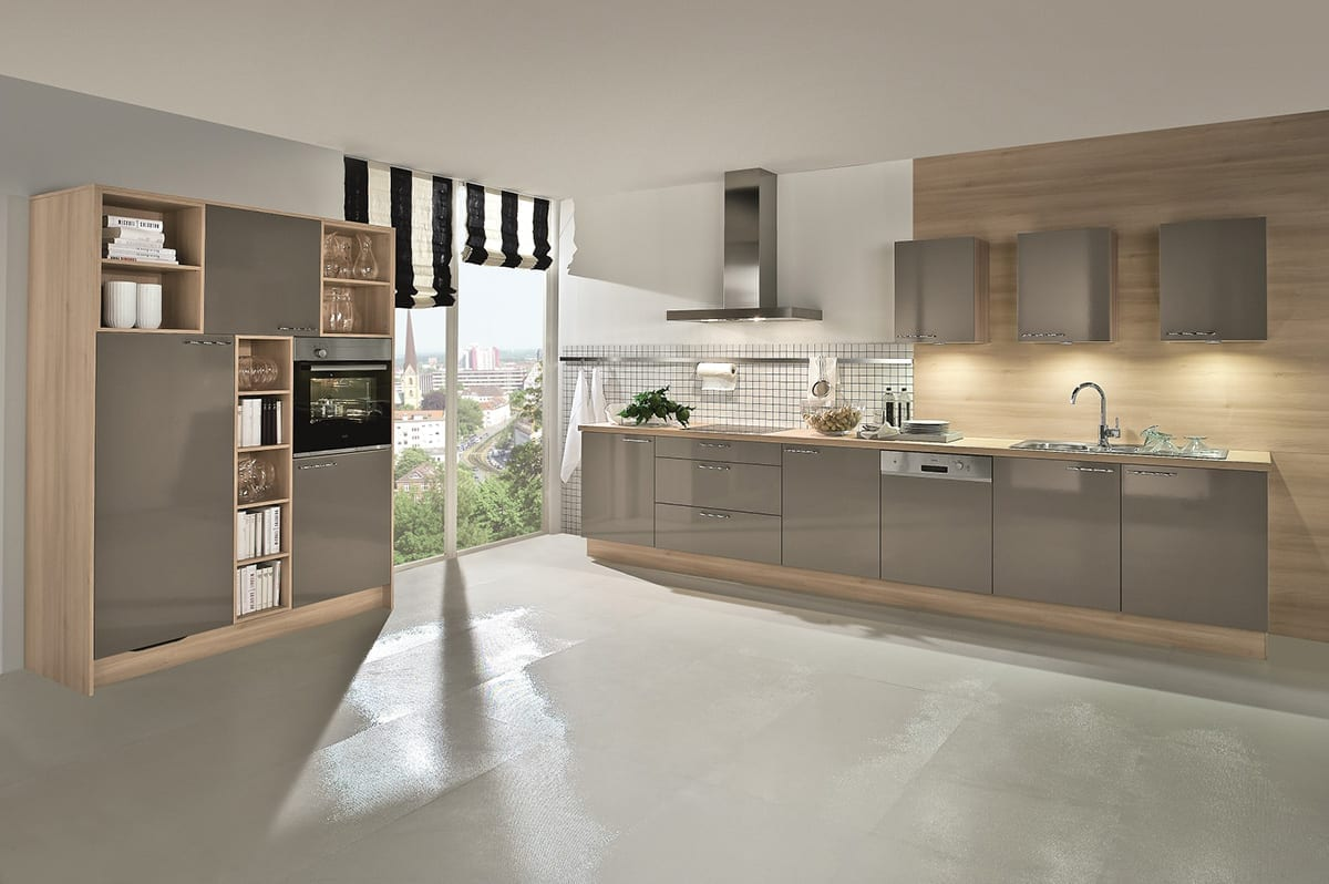 3. Basalt Grey high gloss kitchen in laminate finish 1200 - Hadley Kitchens, Leamington Spa