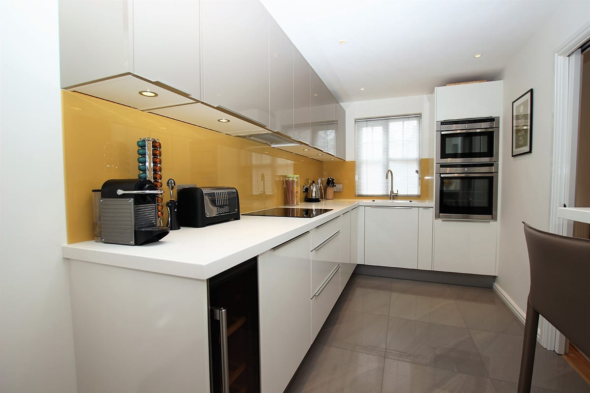 1. Two tone L shaped kitchen design - Alon Interiors, Larkfield