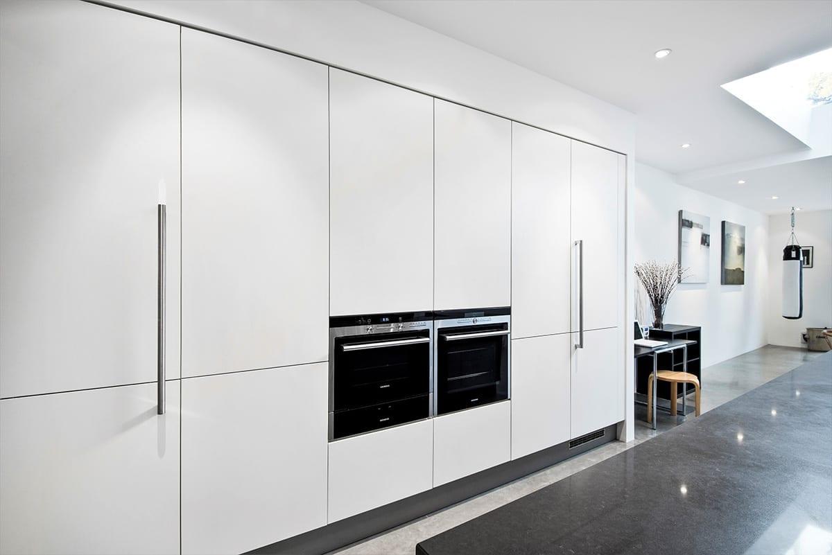 Matt Lacquer Laminate White - Alon Interiors, Larkfield