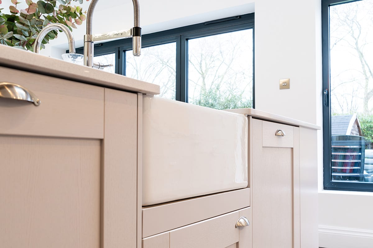 Shaker kitchen with Butler sink - Net Kitchens Direct, Walthamstow