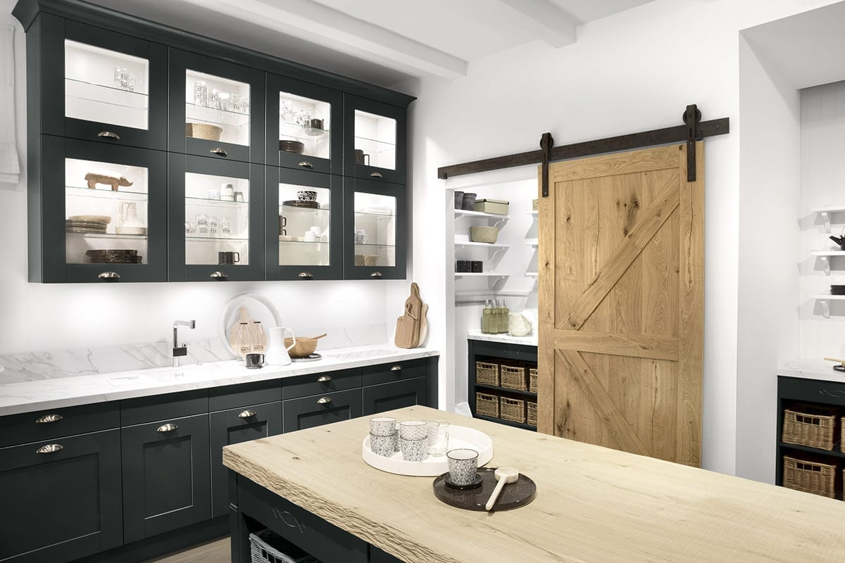 3. Velvet Blue Shaker Kitchen - Net Kitchens Direct, Walthamstow