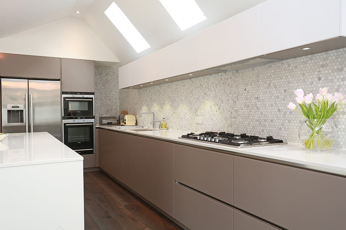 Mosaic Tiled Splashback - Hadley Kitchens, Leamington Spa